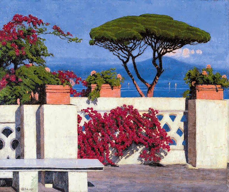 Edward Okun - Naples Bay and Vesuvio View