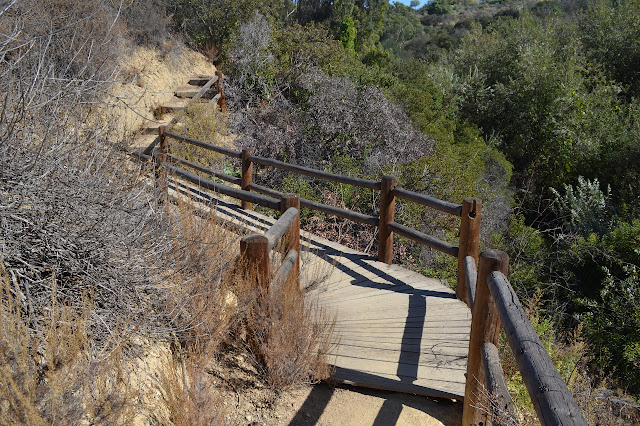sagging wooden bridge