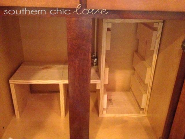 storage for under bathroom sink. cabinet door storage under the