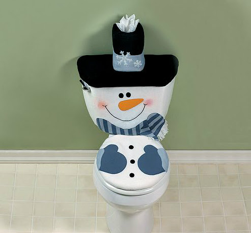 тоалетна коледна чиния