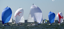J/80 one-design sailboats- sailing in Texas