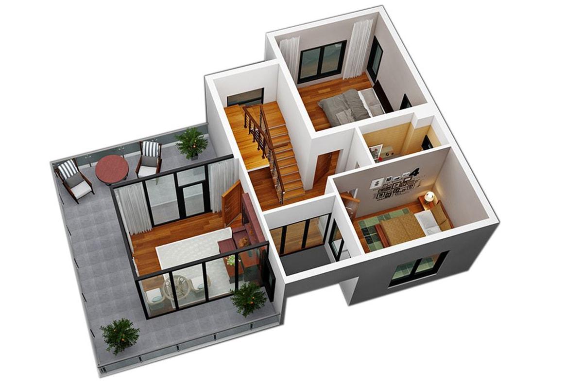 Mặt bằng tầng 3 Biệt thự Sao Biển FLC Sầm Sơn