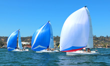 J/70 one-design speedsters- sailing Hot Rum San Diego