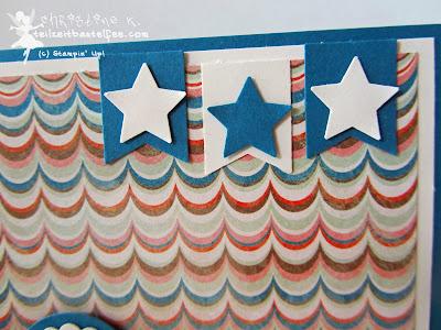stampin up, male birthday, männer karte, sterne, stars, banner, fähnchen