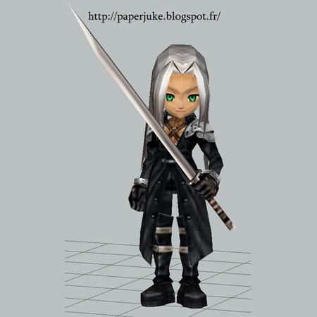Chibi Sephiroth Papercraft