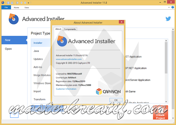 Advanced Installer Architect 11.8