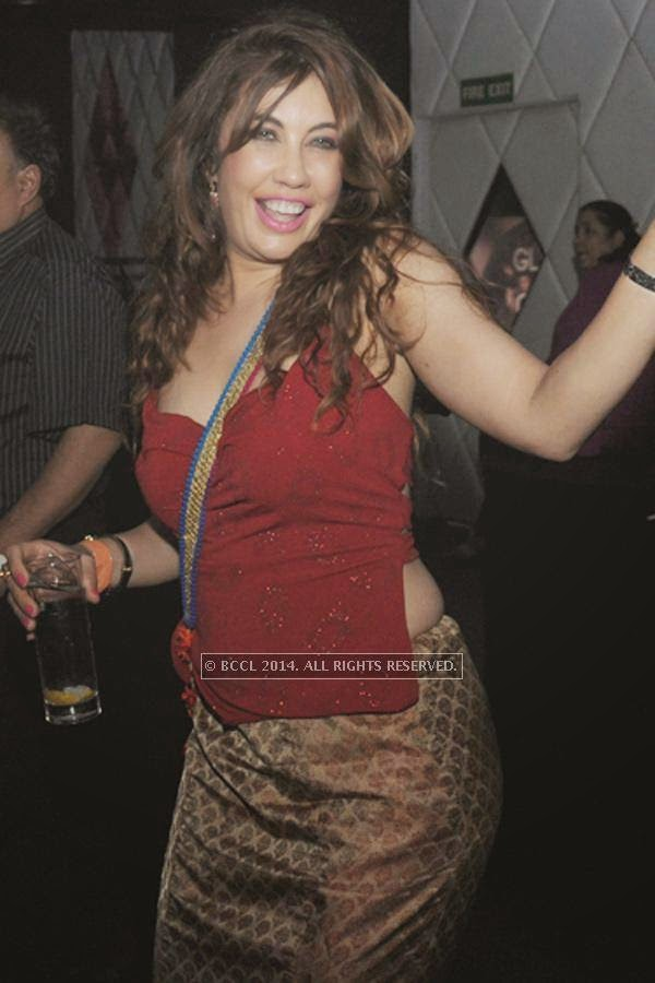 Vandana Vadhera during the party, held at BW club, New Friends Colony.<br />