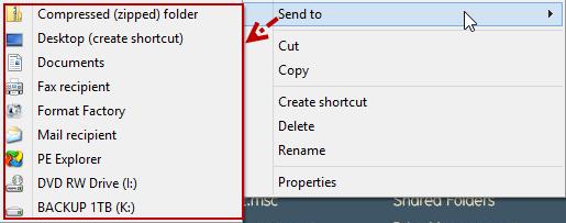 เพิ่ม Icon ShortCut ให้กับเมนู Send to บนวินโดวส์ 8 ง่ายๆสไตล์นาย C-GRu Send2w8-01