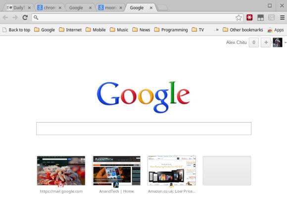 Google Chrome Startseite