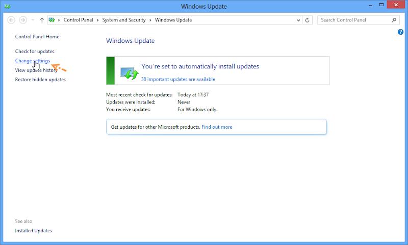 ป้องกันการ Deactivate ใน Windows 8 ด้วยการปรับแต่งการอัพเดตของวินโดวส์ W8upset02