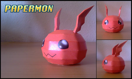 Digimon Jyarimon Papercraft