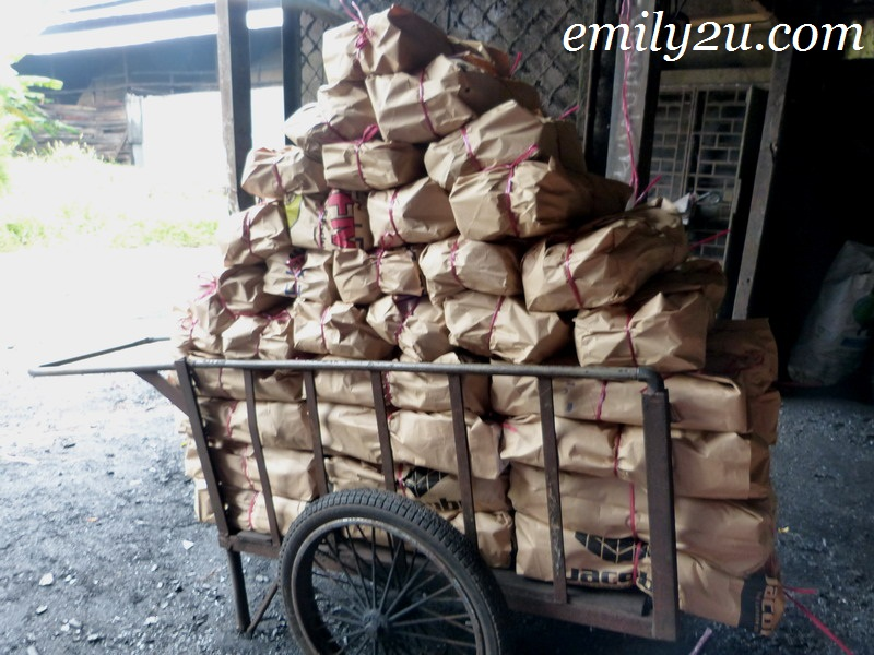 traditional charcoal making Kuala Sepetang