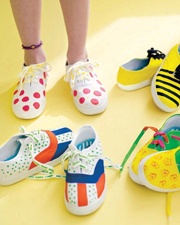 These painted shoes are fun to make, and great for back to school.