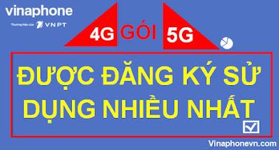 Gói 4G, 5G Nào được Đăng ký sử dụng nhiều nhất hiện nay?!