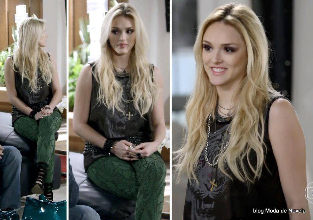 moda da novela Geração Brasil, look da Megan dia 19 de agosto