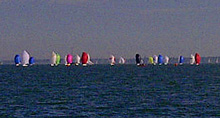J/80s racing off Hamble on Solent