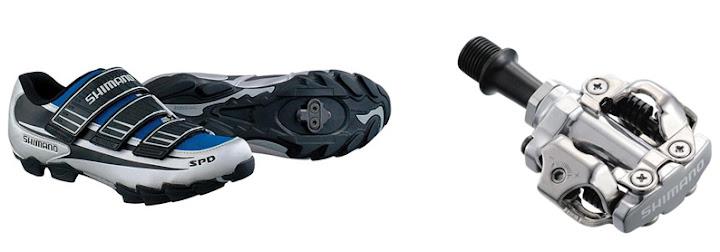 контактные педали велоботинки