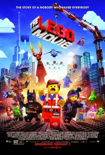 Poster Of The Lego Movie (2014) Full Movie Hindi Dubbed Free Download Watch Online At Alldownloads4u.Com