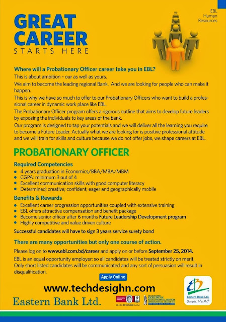 eastern bank limited senior officer job vacancy