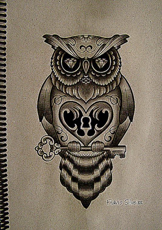 new owl tattoo by FraH on DeviantArt