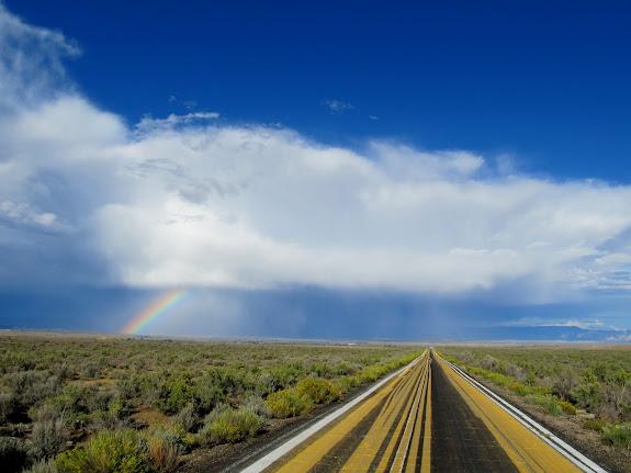 Paint Road rainbow