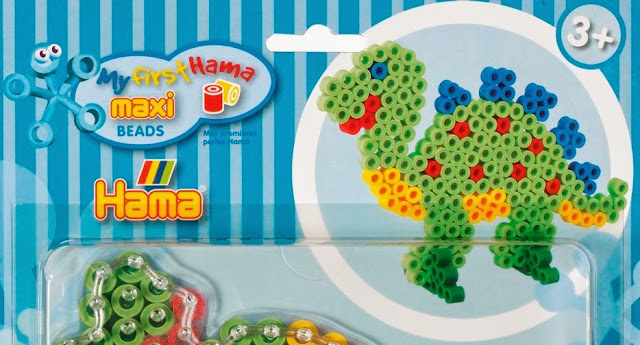 Bộ đồ chơi xếp hạt nhựa Maxi (Hama 8909) hình Khủng long rất sinh động và đẹp mắt