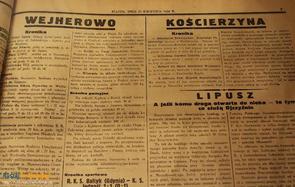 Muzeum Ziemi Kościerskiej - ekspozycje historyczne - kroniki policyjne