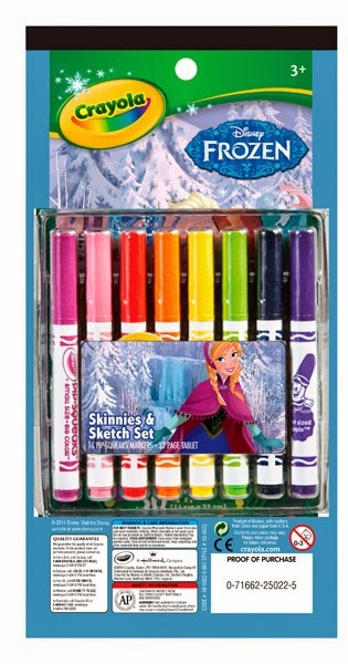 Bộ 16 bút lông và giấy tô màu Frozen Crayola giúp bé thoải mái sáng tạo