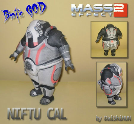 Mass Effect 2 Niftu Cal Papercraft