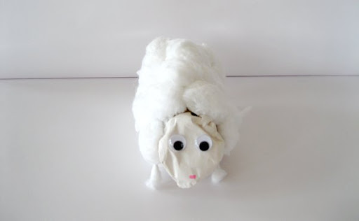 Cotton Ball Lamb