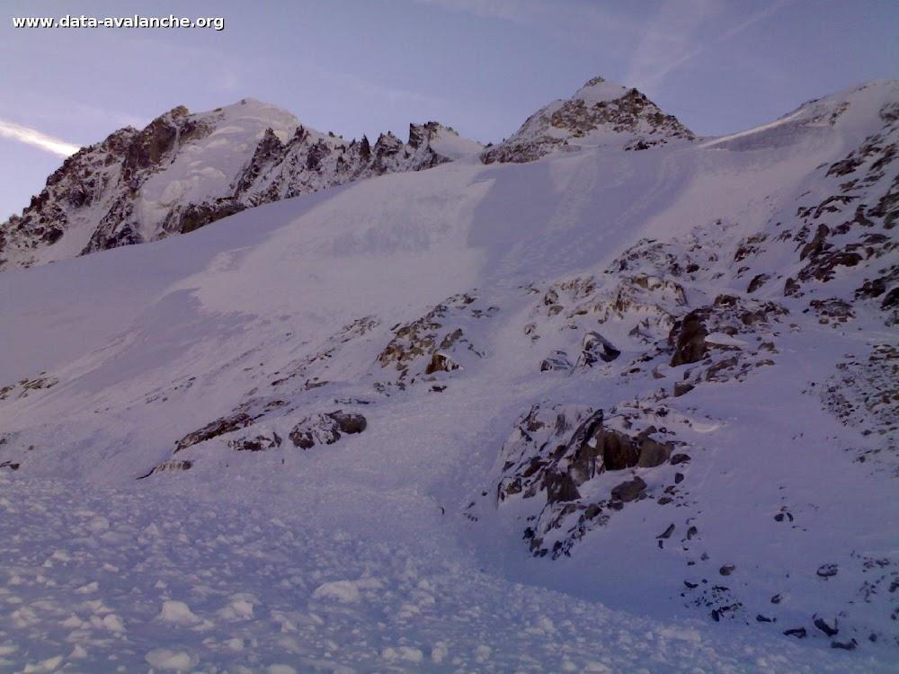 Avalanche Mont Blanc, secteur Aiguille Verte, Glacier des rognons - Photo 1