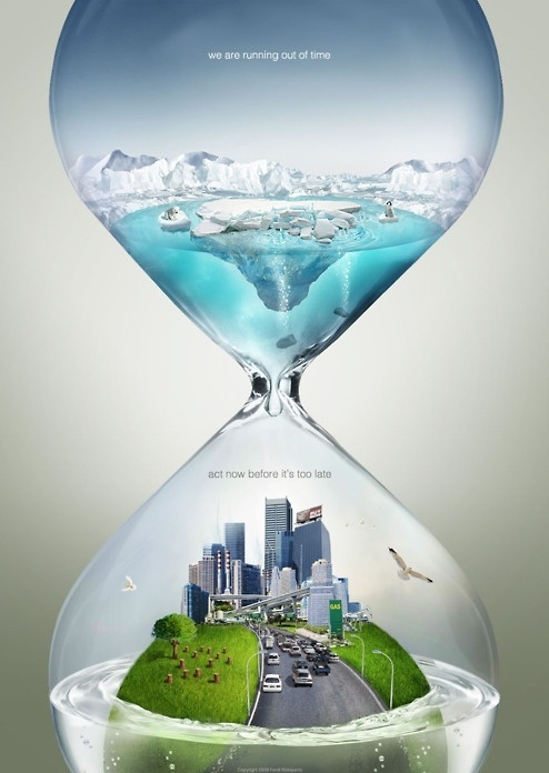 Global Warming Poster : We Are Running Out Of Time