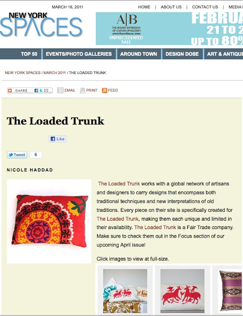 The Loaded Trunk | NY Spaces | Interior Design | Home Decor