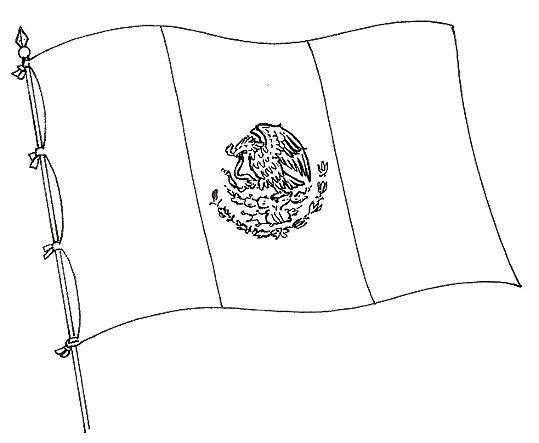 Dibujo de la bandera de México para colorear