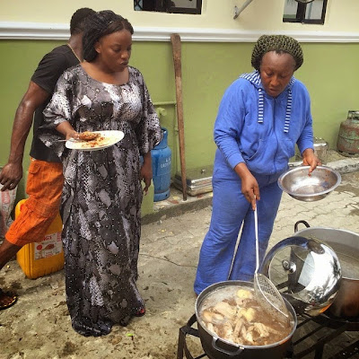 [Photos] Empress Njamah and Mama G Cooked For Ibinabo's Wedding Reception