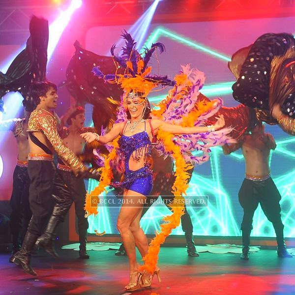 Dancers perform during the launch of FOX Traveller's new television channel FOX Life, in Mumbai, on July 16, 2014.