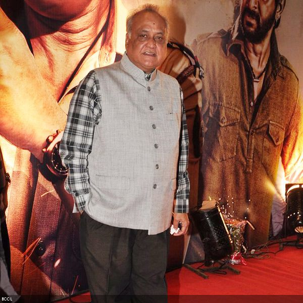 Producer TP Agarwal walks the red carpet at the premiere of his movie 'Zila Ghaziabad', held at PVR Cinema in Mumbai, on February 21, 2013. (Pic: Viral Bhayani)