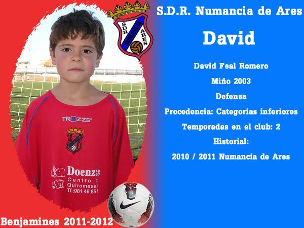ADR Numancia de Ares. Benxamíns 2011-2012. DAVID.