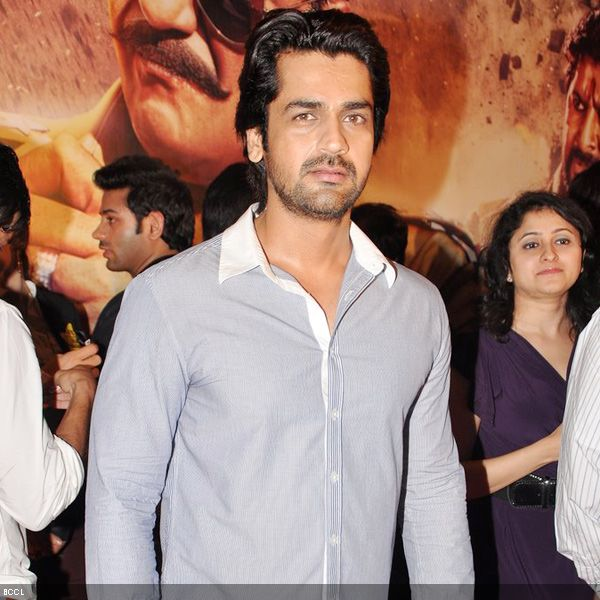 'Fashion' actor Arjan Bajwa poses during the premiere of the movie 'Zila Ghaziabad', held at PVR Cinema in Mumbai, on February 21, 2013. (Pic: Viral Bhayani)