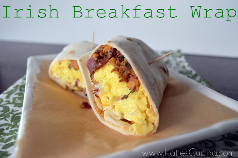 Irish Breakfast Wrap from KatiesCucina @KatiesCucina #Irish #Breakfast #Recipe