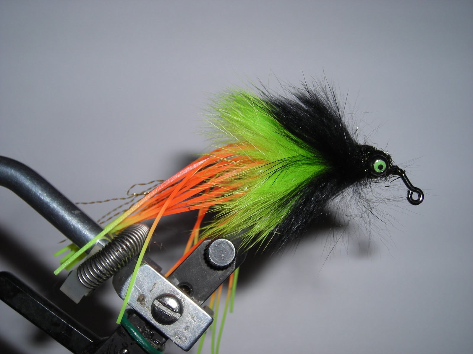 Scum pocket bass flies jig style for Bass fly fishing setup