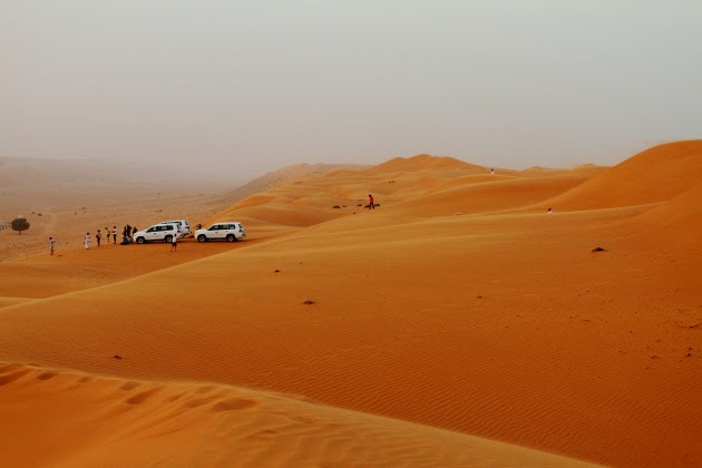 The dunes of Wahiba Sands, Oman