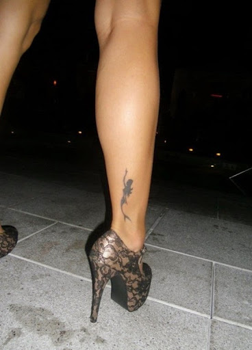 small Mermaid Tattoos on leg