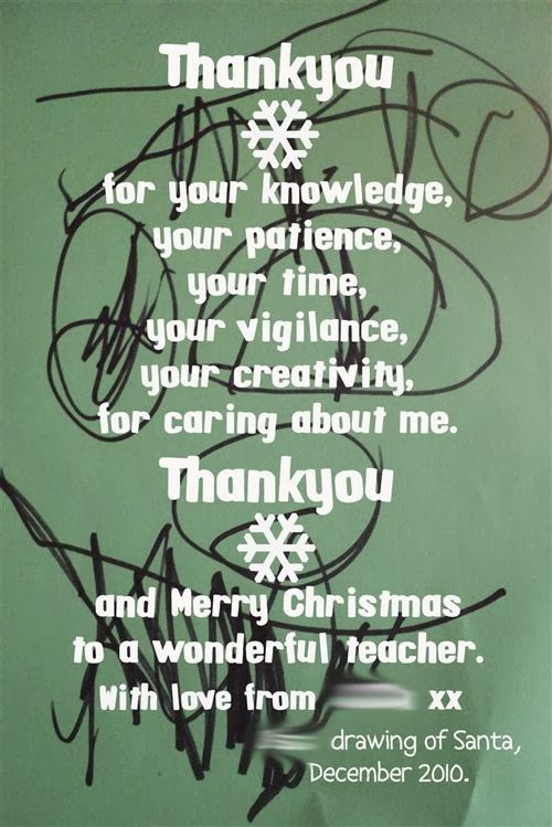 Merry Christmas Teacher Quotes.Thank You And Merry Christmas Message To Teacher