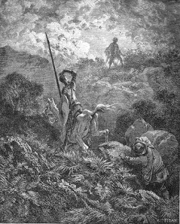 Don Quijote y Sancho en Sierra Morena. Encuentro con Cardenio