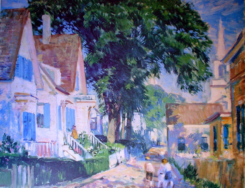 Gifford Beal - A Street in Provincetown
