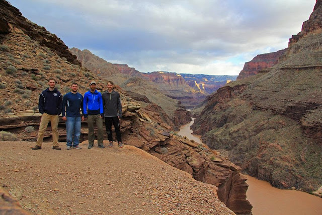 The group after hiking Deer Creek Narrows in the Grand Canyon (Photo: Jonathan Sisley)