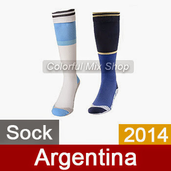 Free Shipping Argentina Soccer Socks World Cup Top Thai