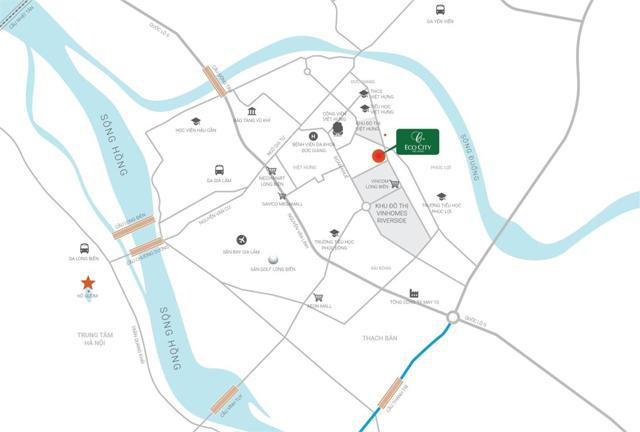 Vị trí chung cư Eco City Long Biên