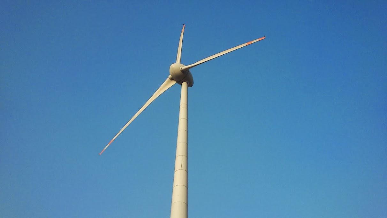 Close shot of wind mill